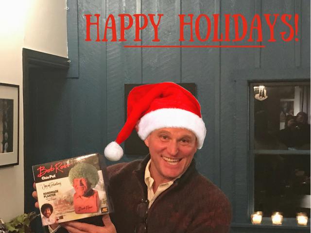 santa clause giving gifts happy holidays